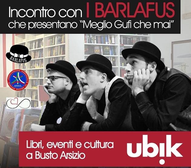 Cabaret tra i libri con i BARLAFUS a Busto Arsizio il prossimo 27 aprile
