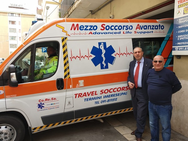 nella Giornata della legalità CORESA ANAS al porto di Palermo con due ambulanze con il piano sanitario
