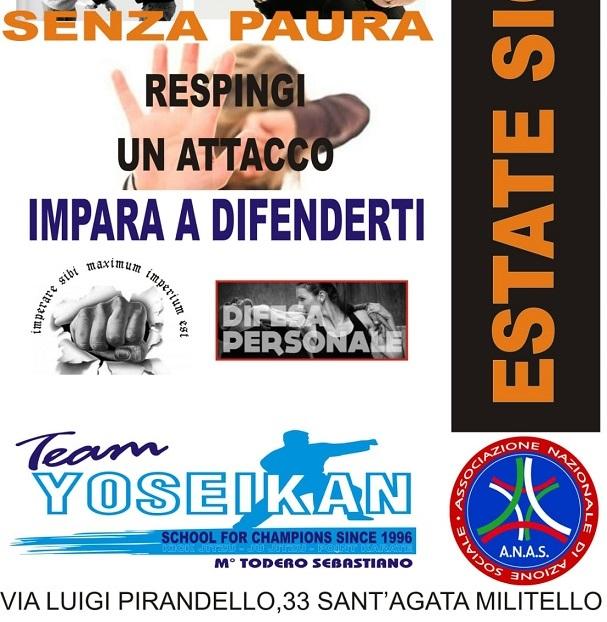 Impara a difenderti con il corso ESTATE SICURA organizzato a Santagata di Militello (ME)