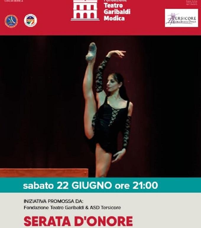 Serata d'onore il prossimo 22 giugno a Modica al teatro Garibaldi
