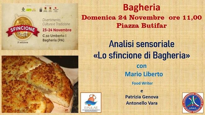 Lo sfingione fest di Bagheria domenica 24 novembre con Mario Liberto