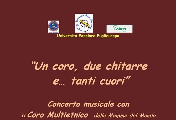 Un coro due chitarre e .. tanti cuori venerdì 24 gennaio a A Bari