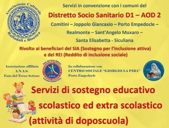 Sostegno educativo scolastico ed extra scolastico a favore dei minori e delle famiglie con disagio