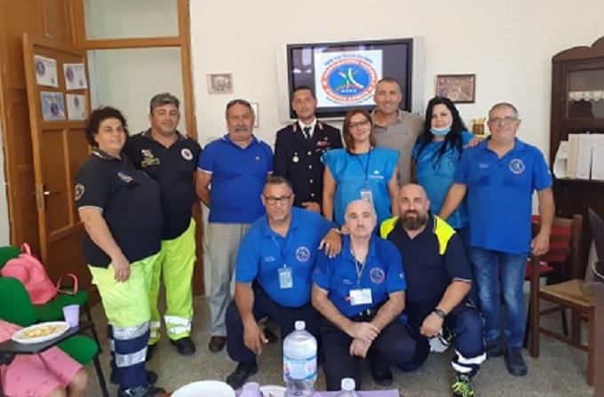 L'agente di polizia Alessio Patricolo in visita alla Sede logistica e operativa dell'Anas