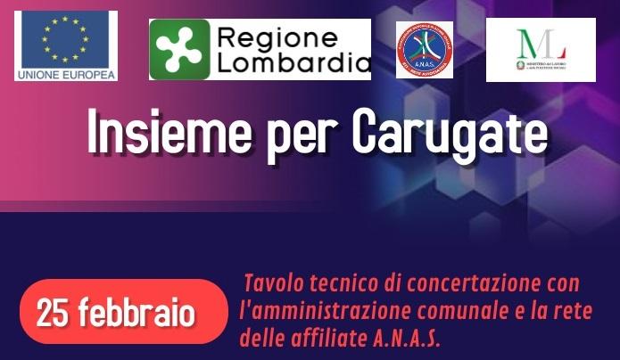 """Domenica 19 settembre A.N.A.S. Lombardia e Emilia Romagna si incontrano per portare il progetto """"Insieme per Carugate"""" nel territorio emiliano"""