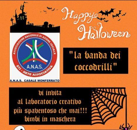 Mercoledì 27 ottobre A.N.A.S Casale Monferrato organizzerà dei laboratori creativi a tema Halloween presso la propria sede